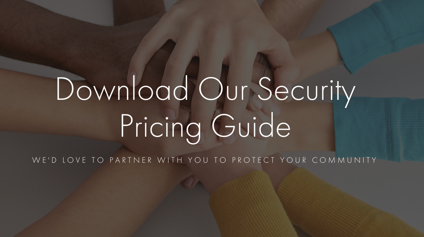 Download our security pricing guide